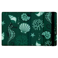 Vector Seamless Pattern With Sea Fauna Seaworld Apple Ipad 3/4 Flip Case by Mariart