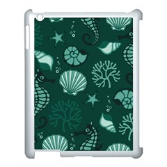 Vector Seamless Pattern With Sea Fauna Seaworld Apple Ipad 3/4 Case (white) by Mariart