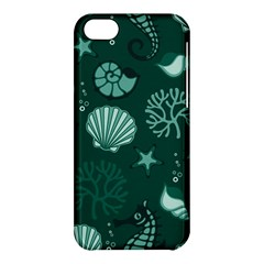 Vector Seamless Pattern With Sea Fauna Seaworld Apple Iphone 5c Hardshell Case by Mariart
