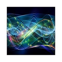 Waveslight Chevron Line Net Blue Acrylic Tangram Puzzle (6  X 6 ) by Mariart