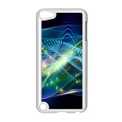 Waveslight Chevron Line Net Blue Apple Ipod Touch 5 Case (white) by Mariart