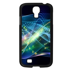 Waveslight Chevron Line Net Blue Samsung Galaxy S4 I9500/ I9505 Case (black) by Mariart
