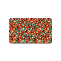 Surface Patterns Bright Flower Floral Sunflower Magnet (name Card) by Mariart