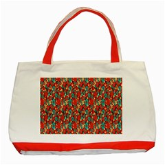 Surface Patterns Bright Flower Floral Sunflower Classic Tote Bag (red) by Mariart