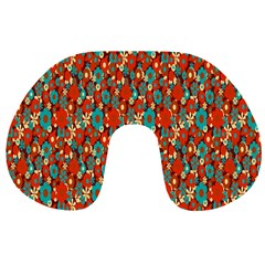 Surface Patterns Bright Flower Floral Sunflower Travel Neck Pillows by Mariart