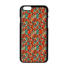 Surface Patterns Bright Flower Floral Sunflower Apple Iphone 6/6s Black Enamel Case