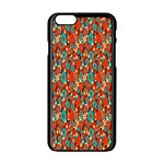 Surface Patterns Bright Flower Floral Sunflower Apple iPhone 6/6S Black Enamel Case Front