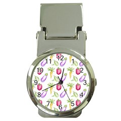 Vegetable Pattern Carrot Money Clip Watches by Mariart