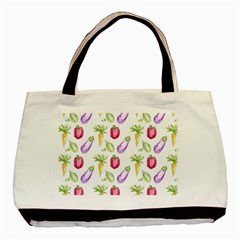 Vegetable Pattern Carrot Basic Tote Bag by Mariart