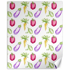 Vegetable Pattern Carrot Canvas 16  X 20   by Mariart