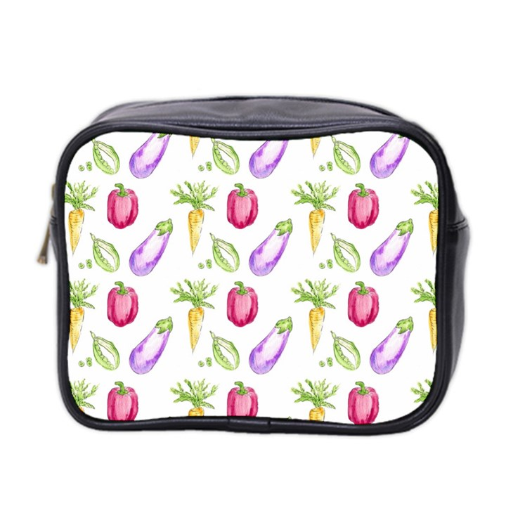 Vegetable Pattern Carrot Mini Toiletries Bag 2-Side