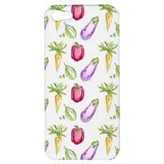 Vegetable Pattern Carrot Apple Iphone 5 Hardshell Case by Mariart
