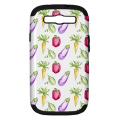 Vegetable Pattern Carrot Samsung Galaxy S Iii Hardshell Case (pc+silicone) by Mariart
