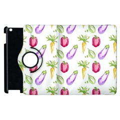 Vegetable Pattern Carrot Apple Ipad 3/4 Flip 360 Case by Mariart