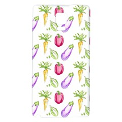 Vegetable Pattern Carrot Galaxy Note 4 Back Case by Mariart