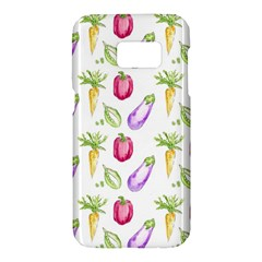Vegetable Pattern Carrot Samsung Galaxy S7 Hardshell Case