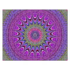 Art Mandala Design Ornament Flower Rectangular Jigsaw Puzzl by BangZart