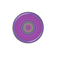 Art Mandala Design Ornament Flower Hat Clip Ball Marker (10 Pack)