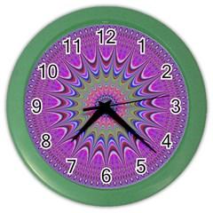 Art Mandala Design Ornament Flower Color Wall Clocks