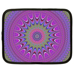 Art Mandala Design Ornament Flower Netbook Case (large)