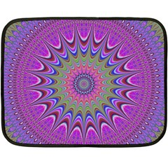 Art Mandala Design Ornament Flower Fleece Blanket (mini) by BangZart