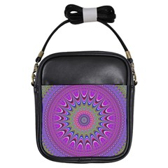 Art Mandala Design Ornament Flower Girls Sling Bags by BangZart