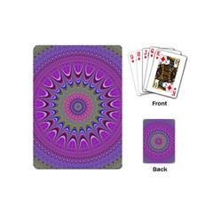 Art Mandala Design Ornament Flower Playing Cards (mini)