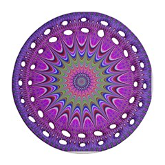 Art Mandala Design Ornament Flower Ornament (round Filigree)