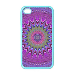 Art Mandala Design Ornament Flower Apple Iphone 4 Case (color)