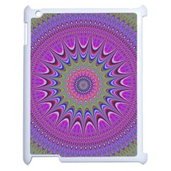 Art Mandala Design Ornament Flower Apple Ipad 2 Case (white) by BangZart