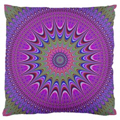 Art Mandala Design Ornament Flower Large Cushion Case (one Side) by BangZart