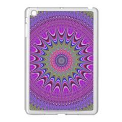 Art Mandala Design Ornament Flower Apple Ipad Mini Case (white) by BangZart