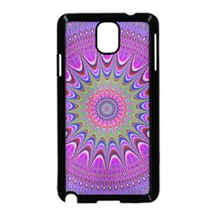 Art Mandala Design Ornament Flower Samsung Galaxy Note 3 Neo Hardshell Case (black)