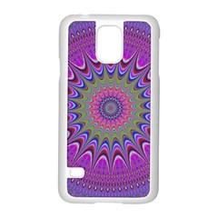 Art Mandala Design Ornament Flower Samsung Galaxy S5 Case (white)
