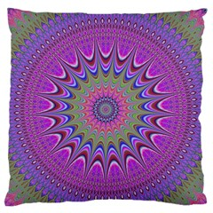 Art Mandala Design Ornament Flower Large Flano Cushion Case (two Sides) by BangZart
