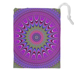 Art Mandala Design Ornament Flower Drawstring Pouches (xxl) by BangZart