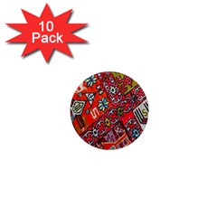 Carpet Orient Pattern 1  Mini Magnet (10 Pack)  by BangZart