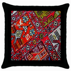 Carpet Orient Pattern Throw Pillow Case (black) by BangZart