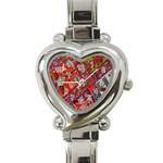 Carpet Orient Pattern Heart Italian Charm Watch