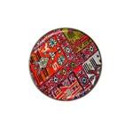 Carpet Orient Pattern Hat Clip Ball Marker (4 pack)