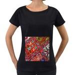 Carpet Orient Pattern Women s Loose-Fit T-Shirt (Black)