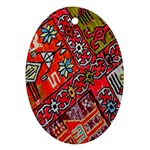 Carpet Orient Pattern Oval Ornament (Two Sides)