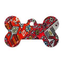 Carpet Orient Pattern Dog Tag Bone (two Sides) by BangZart