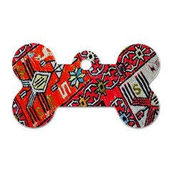 Carpet Orient Pattern Dog Tag Bone (two Sides)