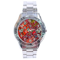 Carpet Orient Pattern Stainless Steel Analogue Watch