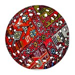 Carpet Orient Pattern Round Filigree Ornament (Two Sides)