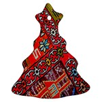 Carpet Orient Pattern Christmas Tree Ornament (Two Sides)