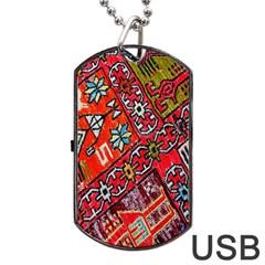 Carpet Orient Pattern Dog Tag USB Flash (Two Sides)