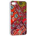 Carpet Orient Pattern Apple iPhone 4/4s Seamless Case (White)