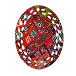 Carpet Orient Pattern Oval Filigree Ornament (Two Sides)